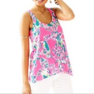 Lilly Pulitzer Monterey Tank Hot Pink